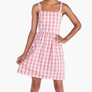 J by J. Crew Gingham Coral Apron Dress